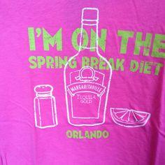 Spring break diet, yo.