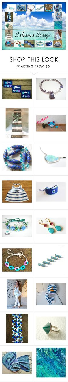 """Bahama Breeze: Handmade Gifts in Blue"" by paulinemcewen ❤ liked on Polyvore featuring rustic"