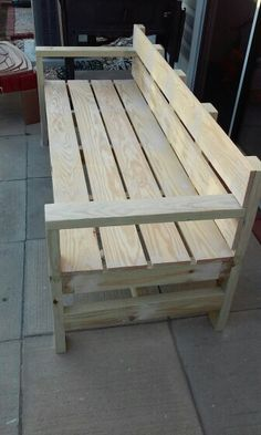 42 Amazing Furniture Project Ideas With Wood Pallets - The Architecture Home Woodworking Projects Diy, Woodworking Furniture, Diy Wood Projects, Furniture Projects, Woodworking Plans, Pallet Patio Furniture, Outdoor Furniture Plans, Bench Furniture, Furniture Stores