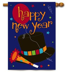 We hope your New Year is filled with much joy and happiness as we bring 2013 to a close. Take a look at this Happy New Year House Banner. Wedding Flags, New Years Hat, Birthday Flags, New Year Banner, Mailbox Covers, Evergreen Flags, Party Flags, Custom Flags, Outdoor Flags