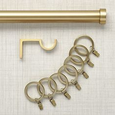 Brushed Brass Curtain Hardware | Crate and Barrel