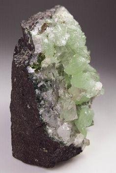 Prehnite, Calcite and Quartz Crystal Specimen, Brandberg Goboboseb Namibia