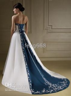 New Apparel strapless wedding dress gown Sexy Bride dresses Custom-Made size black blue and white