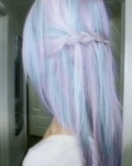 purple and blue, looks soooo soft!
