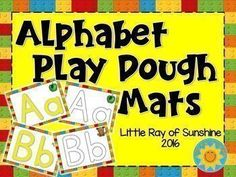 These complete alphabet playdough mats come in 2 versions, FULL COLOR and INK SAVER as shown in the Preview.  Can be used to reinforce letter and sound recognition or double as letter tracers for pre-writing skills.  There are 52 mats total in this set.