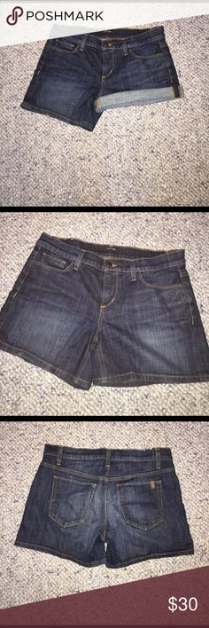 How's denim shorts Condition scale 1-10: 8 these shorts are great if you prefer something a little longer so your thighs don't rub together! They were a great pair of shorts for me one summer and no longer fit. Definitely one of the more comfortable pieces I own. Joe's Jeans Shorts Jean Shorts