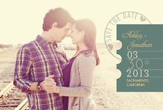 Postmarked Promise Save The Date Photo Cards by Ellinée