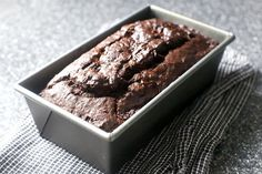 double chocolate banana bread.  I just happen to have three overripe bananas at home, and then this gets posted. Coincidence? I think not.