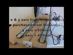 CNC mill using drawer slides - YouTube