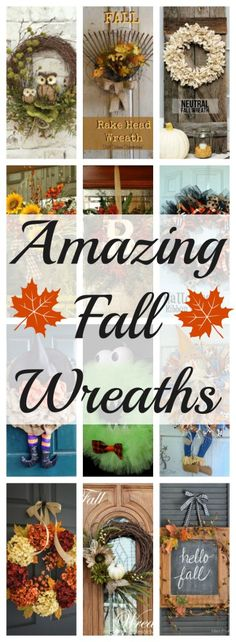 A collection of amazing fall wreaths. Check it out! A beautiful fall wreath will add great curb appeal and have your neighbors asking where you got it from.