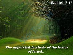ezekiel 45 17 the appointed festivals of the house powerpoint church sermon Slide01 http://www.slideteam.net/