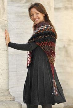 Hæklet sjal i netmønster | Familie Journal