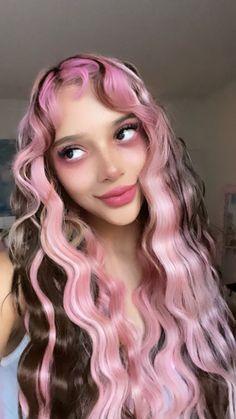 Hair Color Streaks, Hair Dye Colors, Hair Inspo, Hair Inspiration, Split Dyed Hair, Fairy Hair, Hair Reference, Dye My Hair, Aesthetic Hair