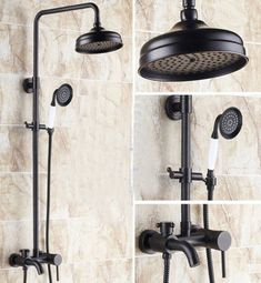 8 Inch antique brass shower faucet in wall shower set bathroom rain shower Bathroom Shower Faucets, Bath Shower Mixer Taps, Shower Faucet Sets, Bronze Bathroom, Shower Set, Rain Shower, Bathroom Fixtures, Bathrooms, Master Bathroom