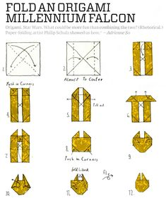 This Will Keep You Busy At Work: Fold A Millennium Falcon Origami Ship #starwars