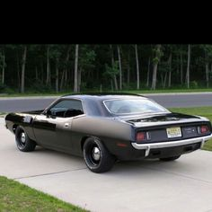 '73 Cuda.....ours was a beautiful deep metallic brown wth white interior.....Awesome Car