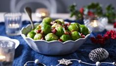 BBC - Food - Recipes : Brussels sprouts with pancetta Easy Christmas Dinner, Christmas Recipes, Christmas Turkey, Christmas Cooking, Christmas Kitchen, Christmas 2017, Christmas Crafts, Perfect Roast Potatoes, Sprout Recipes