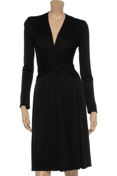 Wrap-effect silk-jersey dress by Issa