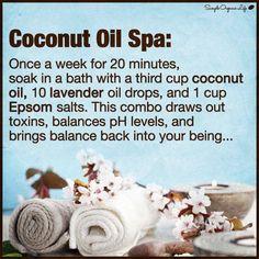 Coconut oil spa