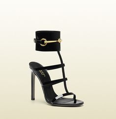 Gucci Ankle-Strap Patent Leather Sandal on shopstyle.com