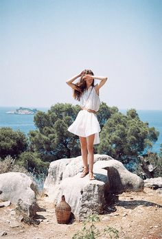 breezy, sheer white beach wear from Loup Charmant — see more spring and summer fashion inspiration on jojotastic.com