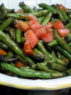 Stir-Fried Green Beans // my favorite way to fix fresh green beans; will omit tomatoes (avoiding nightshades)