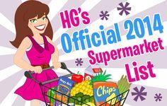 HG's Official 2014 Supermarket List! (Must-Read!)