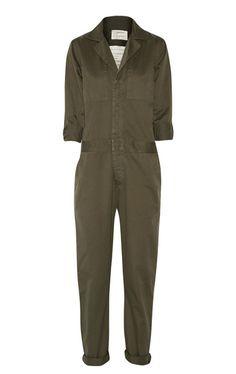 The Jumpsuit, Current/Elliott mechanic cotton-twill jumpsuit / Garance Doré