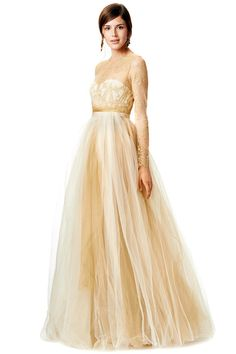 Reignalicious Marchesa Notte Dipped in Gold gown
