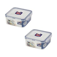 2 X Lock & Lock Square Food Container 600ml(20.3oz) #LockLock