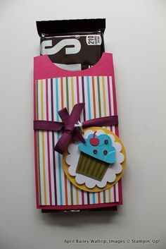 12 Days of Back to School Crafts, Stampin Up Free Hershey Bar Holder Tutorial