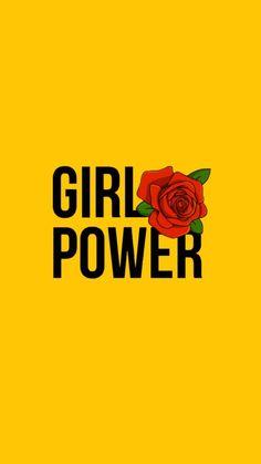 wallpaper, girl power, and yellow image Power Wallpaper, Ios 7 Wallpaper, Wallpaper For Your Phone, Tumblr Wallpaper, Wallpaper Quotes, Wallpaper Backgrounds, Bedroom Wallpaper, Cute Backgrounds, Cute Wallpapers