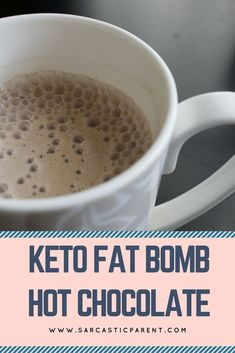 Everybody loves hot chocolate, but on a keto way of life, regular hot chocolate is just not possible for me. The amount of sugar will give me a serious stomach ache the next day and not worth it for many. My daughter loves hot chocolate and I just look at