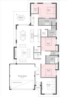 House Designs | New Home Designs Perth - Homebuyers Centre Dream House Plans, Modern House Plans, Small House Plans, House Floor Plans, New Home Designs, Home Design Plans, Plan Design, Architectural Floor Plans, Kit Homes
