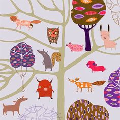 """Trees and Animals"" by Anne Wilson"