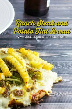 Ranch Steak and Potato Flat Bread is a meal all in one. It has Hidden Valley Ranch fries on top of a seasoned steak, onions, and peppers for a wonderfully flavored flat bread. A recipe from Seduction in the Kitchen.