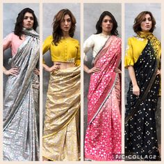 """106 Likes, 23 Comments - Pratik & Priyanka (@iamdesignofficial) on Instagram: """"The saree story! A wardrobe must have this season! Choose a color that suits you best from our…"""""""