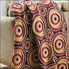 Ringtoss Afghan ~ crochet pattern available via ravelry {crochet world magazine}