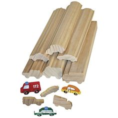 Holzteile zum Bemalen Profilholz Fahrzeuge für Kiga-Gruppen