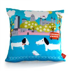 London cushion designed by Michelle Mason.