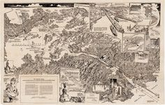 The Panama Canal, as seen from an airplane in 1925  A spectacular pictorial map of the recently-completed Panama Canal, based on sketches made by an air... - Boston Rare Maps Inc - Google+