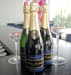 """•Nicolas Feuillatte (Nicki Feu) is a Brut or Rose Champagne that won Gold and is available in bottle at $80 or in a split.      The 3rd Best In Glass Wine Challenge (BIG), is a """"wine by the glass"""" competition held in  Jan & brought wines to the attention of more than 30 of the top wine decision makers of SoFL's restaurants & hotels including Chill Owner!    Best in Glass Month which precedes Veritage Miami--a month-long promotion allows consumers to enjoy the winning wines from BIG."""