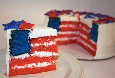 4th of July flag cake by lifelalife, via Flickr  #4thofjulydesserts #4thofjulyideas