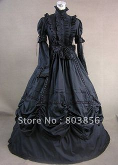 Gothic Lolita Victorian Dress Women's Girls' Party Prom Japanese Cosplay Costumes Plus Size Customized Black Ball Gown Vintage Bell Sleeve Long Sleeve Floor Length Long Length / Gothic Lolita Dress Victorian Dress Costume, Gothic Victorian Dresses, Victorian Ball Gowns, Gothic Lolita Dress, Costume Dress, Victorian Fashion, Gothic Fashion, Cosplay Costumes, Halloween Costumes
