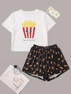 Cute Pajama Sets, Cute Pjs, Cute Pajamas, Pajamas Women, Girls Fashion Clothes, Teen Fashion Outfits, Outfits For Teens, Girl Outfits, Cute Lazy Outfits