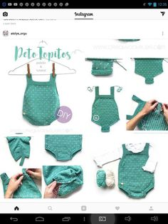 Best 12 Topitos knitted romper for baby – DIY Knitting Pattern and tutorial – SkillOfKing. Knitting For Kids, Hand Knitting, Baby Patterns, Crochet Patterns, Knitted Baby Clothes, Knitted Romper, Diy Crafts Crochet, Baby Pullover, Quick Knits