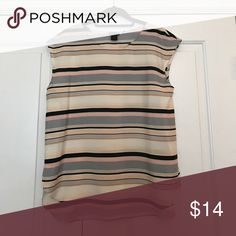 Top Silky striped top; looks great under a jacket or on its own Ann Taylor Tops