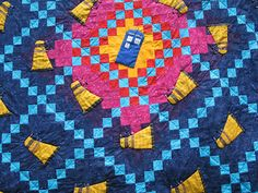 """Invasion of the Daleks"" (Doctor Who Quilt) by graverobbergirl, which she made as a wedding gift for friends."