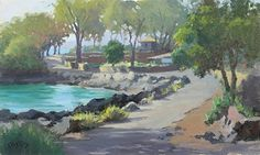 Maui Fish Pond by John Cosby Oil