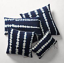 Handcrafted African Indigo Shibori Stripe Pillow Cover
